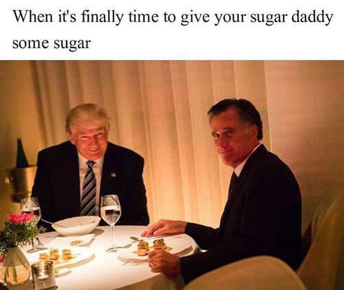 When it's time to give your sugar daddy some sugar