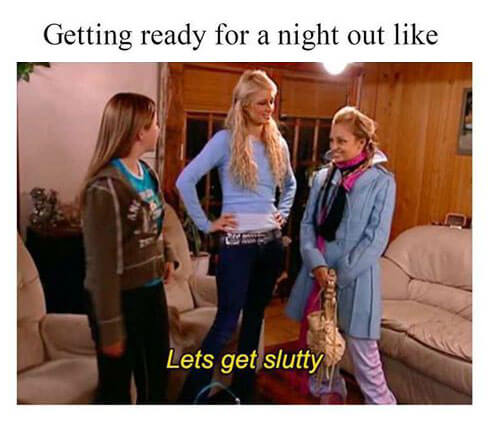 Getting ready for a night out
