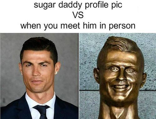 Sugar daddy profile pic VS the reality